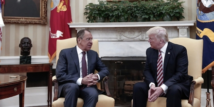 In this photograph released by Russian Foreign Ministry US President Donald Trump, right, meets Russian Foreign Minister Sergey Lavrov at the White House in Washington, Wednesday, May 10, 2017. The Trump administration barred American journalist from this meeting. President Donald Trump on Wednesday welcomed Vladimir Putin's top diplomat to the White House for Trump's highest level face-to-face contact with a Russian government official since he took office in January. (Russian Foreign Ministry Photo via AP)