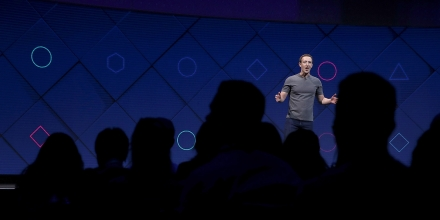 SAN JOSE, CA - APRIL 18:  Facebook CEO Mark Zuckerberg delivers the keynote address at Facebook's F8 Developer Conference on April 18, 2017 at McEnery Convention Center in San Jose, California. The conference will explore Facebook's new technology initiatives and products. (Photo by Justin Sullivan/Getty Images)