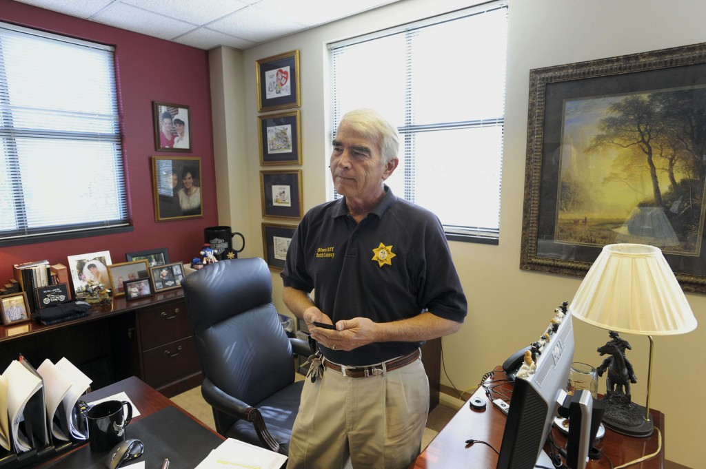 Gwinnett County Sheriff Butch Conway in Lawrencville, Ga., Nov. 1, 2010. After several high-profile crimes committed by illegal immigrants, Conway made it his goal to reduce their population and enrolled his jail in a special Immigration and Customs Enforcement program. (Erik S. Lesser/The New York Times)