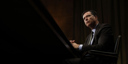 "FILE- In this May 3, 2017, file photo, FBI Director James Comey listens while testifying on Capitol Hill in Washington. President Donald Trump has fired Comey. In a statement on Tuesday, May 9, Trump says Comey's firing ""will mark a new beginning"" for the FBI.  (AP Photo/Carolyn Kaster, File)"