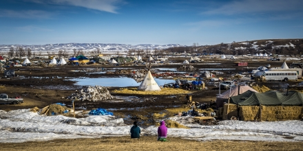 ?On February 19, 2017?, hundreds? of water ?protectors ?continued their massive clean up effort of the Oceti Sakowin camp in Standing Rock, North Dakota, where for months thousands have converged protesting the 3.8 billion dollar Dakota Access Pipeline. Despite President Donald Trump? ?granting the? ?final easement? earlier this month,? allowing Energy Transfer Partners to drill under the Missouri River, and ?with ?a deadline to evacuate the camp by Wednesday, February 22, 2017, hundreds have vowed to remain.? (Photo by Michael Nigro) ? *** Please Use Credit from Credit Field ***(Sipa via AP Images)