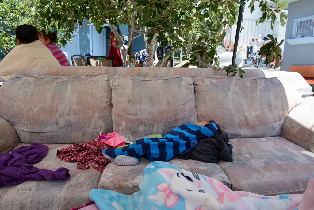 A one-year-old sleeps at Casa Madre Assunta. After a gang killed his grandmother and three uncles, his 6-month-pregnant mother fled Honduras with him and his 3-year-old sister. She plans to seek asylum in the U.S.