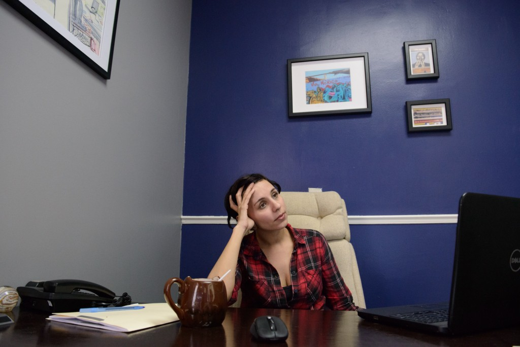 Lawyer Nicole Ramos in her office.