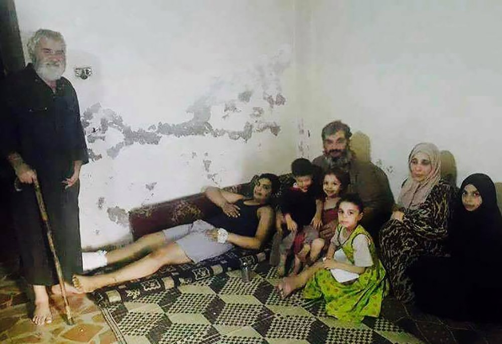 A photo of the Al-Aliwi family who were reportedly killed during an airstrike in Raqqa, Syria, according to AirWars. Photo: Syrian Network for Human Rights