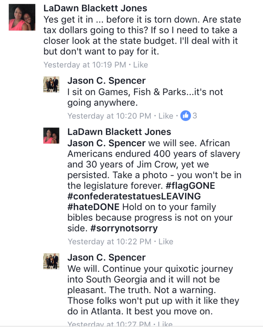 Georgia rep threatens Black attorney who wants Confederate statues removed