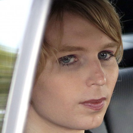 Chelsea Manning is seated in the back seat of a vehicle as she departs The Nantucket Project's annual gathering, Sunday, Sept. 17, 2017, in Nantucket, Mass. Manning participated in a forum at the gathering. Manning is a former U.S. Army intelligence analyst who spent time in prison for sharing classified documents. (AP Photo/Steven Senne)