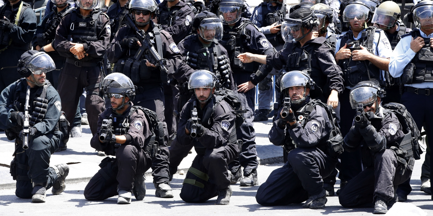 merican police being trained  by Israeli forces