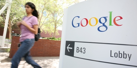 The Google logo is seen at the Google headquarters in Mountain View, California. on September 2, 2011.    AFP PHOTO/KIMIHIRO HOSHINO (Photo credit should read KIMIHIRO HOSHINO/AFP/Getty Images)
