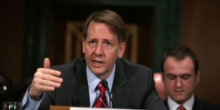 Director of the Consumer Financial Protection Bureau Richard Cordray testifies during a hearing before the Senate Banking, Housing and Urban Affairs Committee April 7, 2016 on Capitol Hill in Washington, DC.
