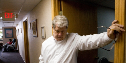 Dr. LeRoy Carhart in his office at the Abortion and Contraception Clinic of Nebraska in Bellevue, Neb., in November 2009. In the six months since Dr. George R. Tiller, widely known for performing late-term abortions, was shot to death in Kansas, much has changed at a different clinic here in this plain suburb of Omaha. Carhart, a longtime friend and colleague of Tiller's, says the facility is now prepared to perform abortions later in pregnancy than before. (Brian Lehmann/The New York Times)
