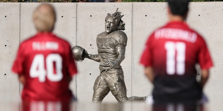 GLENDALE, AZ - SEPTEMBER 11:  General view of the Pat Tillman statue before the NFL game between the Arizona Cardinals and New England Patriots at the University of Phoenix Stadium on September 11, 2016 in Glendale, Arizona.  (Photo by Christian Petersen/Getty Images)