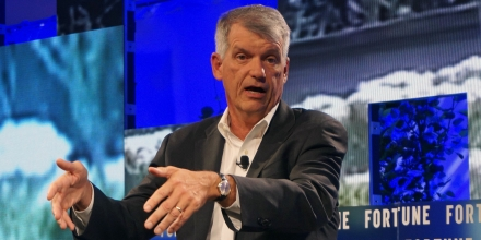 Timothy Sloan, CEO, Wells Fargo, speaks July 19, 2017 at the Fortune Brainstorm Tech conference in Aspen, Colorado.   / AFP PHOTO / ROB LEVER        (Photo credit should read ROB LEVER/AFP/Getty Images)