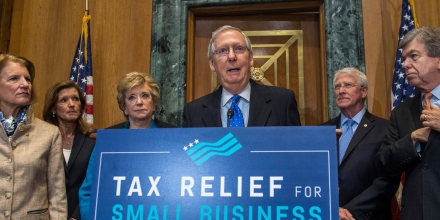 US Senate Majority Leader Mitch McConnell, Republican of Kentucky, speaks about tax reform on Capitol Hill in Washington, DC, November 30, 2017. / AFP PHOTO / SAUL LOEB        (Photo credit should read SAUL LOEB/AFP/Getty Images)