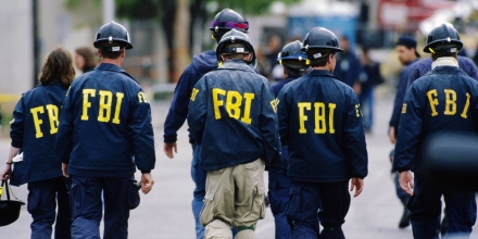 FBI agents visit the site of the Oklahoma City bombing. On April 19, 1995, a fuel-and-fertilizer truck bomb exploded in front of the Alfred P. Murrah Federal Building, killing 168 people. Timothy McVeigh, convicted on first-degree murder charges for the worst terror attack on US soil at that time, was scheduled to be executed on June 11, 2001. (Photo by © Ralf-Finn Hestoft/CORBIS/Corbis via Getty Images)