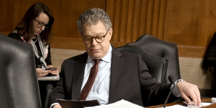 United States Senator Al Franken (Democrat of Minnesota) looks over his notes prior to hearing Alex M. Azar II testify before the US Senate Committee on Health, Education, Labor and Pensions on his nomination to be Secretary of Health and Human Services on Capitol Hill in Washington, DC on Wednesday, November 29, 2017. Credit: Ron Sachs / CNP - NO WIRE SERVICE ' Photo by: Ron Sachs/picture-alliance/dpa/AP Images