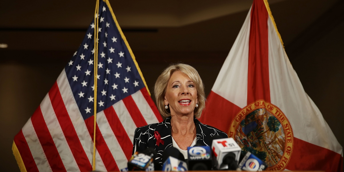 Betsy DeVos Doesn't Want State Laws Regulating Student Loans